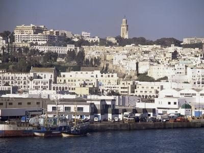 Harbour View to Old Town and Kasbah, Tangier, Morocco, North Africa, Africa-Ken Gillham-Photographic Print
