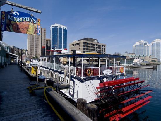 Harbour Walk and City View, Halifax, Nova Scotia, Canada, North America  Photographic Print by Ethel Davies | Art com