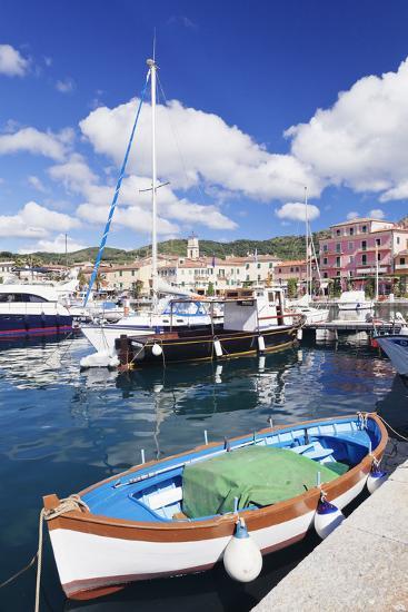 Harbour with Fishing Boats, Porto Azzuro, Island of Elba, Livorno Province, Tuscany, Italy-Markus Lange-Photographic Print