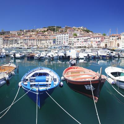 Harbour with Fishing Boats, Portoferraio, Island of Elba-Markus Lange-Photographic Print