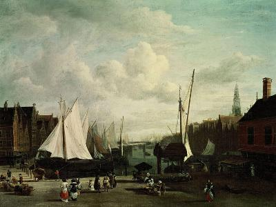 Harbour With Sailboats And Marketstalls-Jacob Ruysdael-Giclee Print