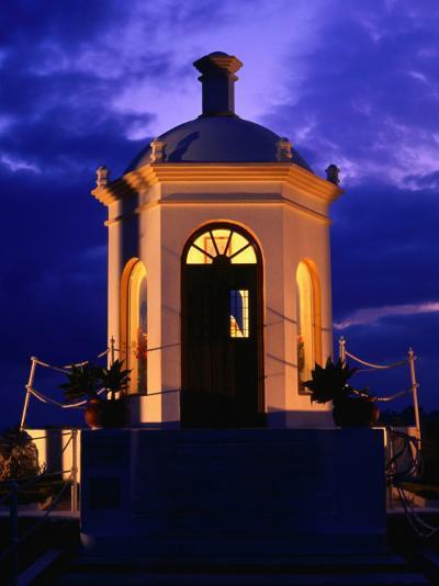 Harbourside Shrine at Puerto Banus Illuminated Against the Evening Sky, Marbella, Andalucia, Spain-David Tomlinson-Photographic Print