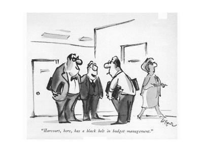 """Harcourt, here, has a black belt in budget management."" - New Yorker Cartoon-Lee Lorenz-Premium Giclee Print"