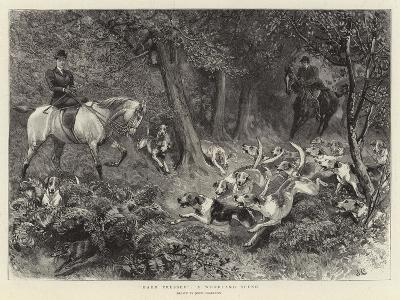 Hard Pressed, a Woodland Scene-John Charlton-Giclee Print