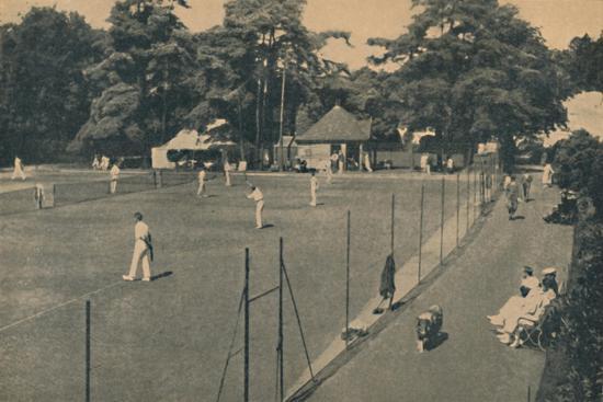'Hard Tennis Courts, Upper Gardens', 1929-Unknown-Giclee Print