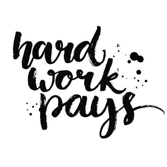 Hard Work Pays-kotoko-Art Print
