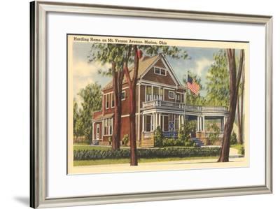 Harding Home, Marion--Framed Art Print