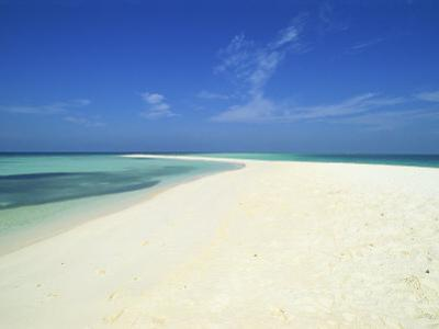 Empty Tropical Beach in the Maldive Islands, Indian Ocean by Harding Robert
