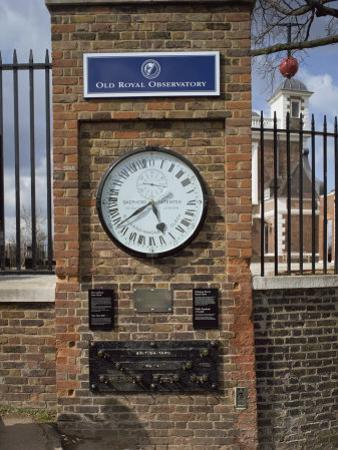 Gmt Clock and Standards of Length, Flamsteed House, Greenwich, London, England, UK by Harding Robert