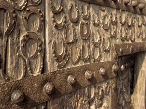 Horseshoes on Wall at Fatehpur Sikri, Built by Akbar in 1570, Uttar Pradesh State, India by Harding Robert