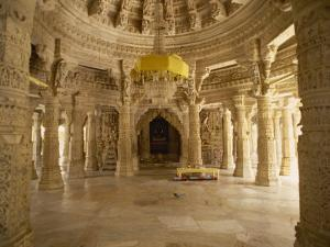 Jain Temple of Chaumukha, Built in the 14th Century, Ranakpur, Rajasthan State, India by Harding Robert