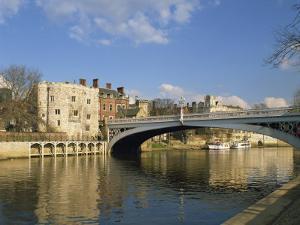 Lendal Bridge over the River Ouse, York, Yorkshire, England, United Kingdom, Europe by Harding Robert