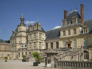 Palace at Fontainebleau, UNESCO World Heritage Site, Seine-et-Marne, Ile De France, France by Harding Robert