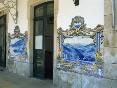 Pinhao Railway Station, Famous for its Tiles Depicting Port Making, Douro Region, Portugal, Europe by Harding Robert