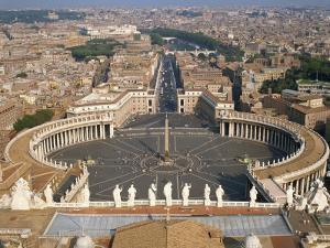 St. Peter's Square, Rome, Lazio, Italy, Europe by Harding Robert