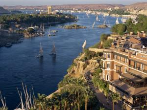 View from the New Cataract Hotel of the River Nile at Aswan, Egypt, North Africa, Africa by Harding Robert