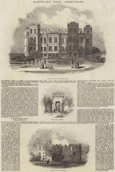Hardwicke Hall, Derbyshire--Giclee Print
