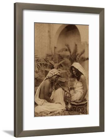 Harem Girls Smoking a Hookah, from an Early 20th Century Postcard