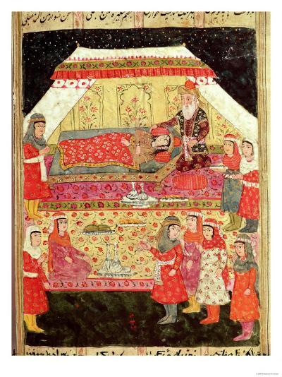 "Harem Scene, from the ""Shahnama"" (Book of Kings), by Abu""L-Qasim Manur Firdawsi (c. 934-c. 1020)--Giclee Print"