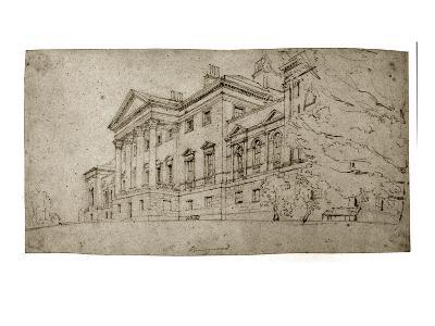 Harewood House, Yorkshire, C.1798 (Graphite on Textured Wove Paper)-Thomas Girtin-Giclee Print