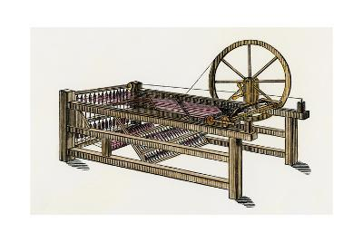 Hargreaves's Spinning-Jenny, Invented in the 1760s--Photographic Print