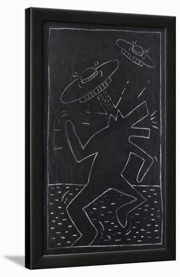 Haring - Subway Drawing-Keith Haring-Framed Giclee Print