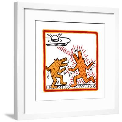 Haring - Untitled October 1982 Broad Foundation-Keith Haring-Framed Giclee Print