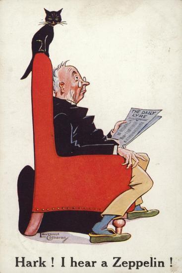 Hark I Hear a Zeppelin!--Giclee Print