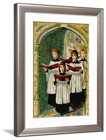 Hark the Herald Angels Sing, Victorian Postcard--Framed Giclee Print