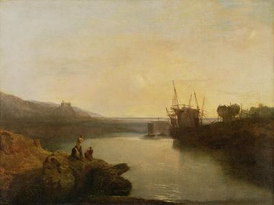 Harlech Castle, from Twgwyn Ferry, Summer's Evening Twilight-J^ M^ W^ Turner-Giclee Print