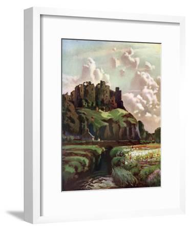 MIDIEVAL HARLECH CASTLE /& SNOWDON WALES PAINTING ART REAL CANVAS GICLEEPRINT