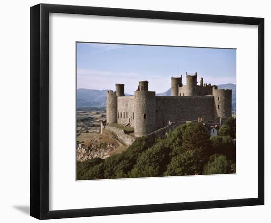 Harlech Castle, UNESCO World Heritage Site, Gwynedd, Wales, United Kingdom, Europe-Nigel Blythe-Framed Photographic Print