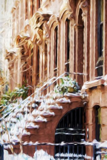 Harlem Building - In the Style of Oil Painting-Philippe Hugonnard-Giclee Print