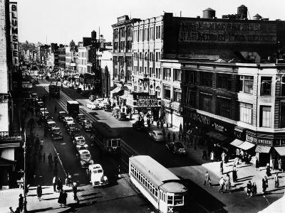 Harlem's Famous Thoroughfare, 125th Street in 1943--Photo
