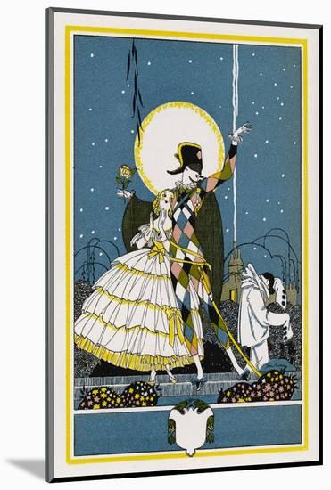 Harlequin and Columbine-John Austen-Mounted Giclee Print