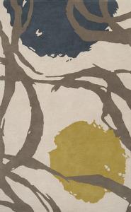 Harlequin Area Rug - Olive/Dark Slate 5' x 8'