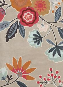 Harlequin Area Rug - Slate/Cherry 5' x 8'