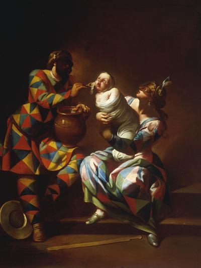 Harlequin as a Father-Giovanni Domenico Ferretti-Giclee Print