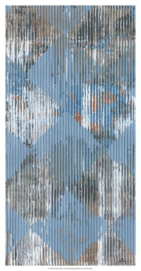 Harlequin Blue I-Dlynn Roll-Giclee Print