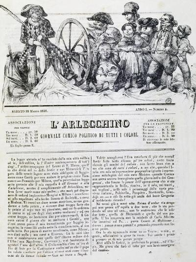 Harlequin, Newspaper, Number 4, 18 March, 1848--Giclee Print