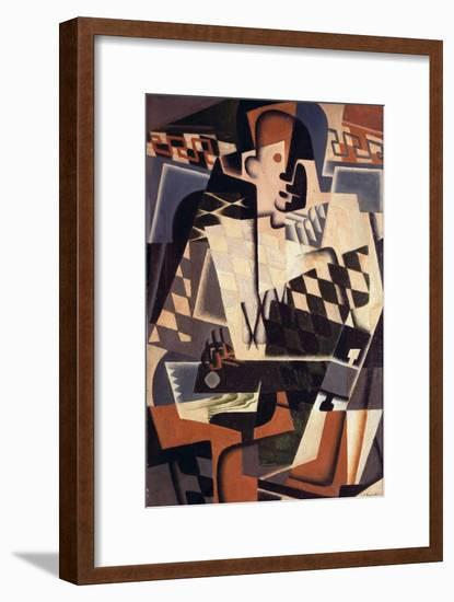 Harlequin with a Guitar, 1917-Juan Gris-Framed Giclee Print