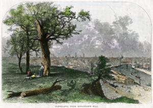 Cleveland, from Scranton's Hill, Ohio, USA, 19th Century by Harley