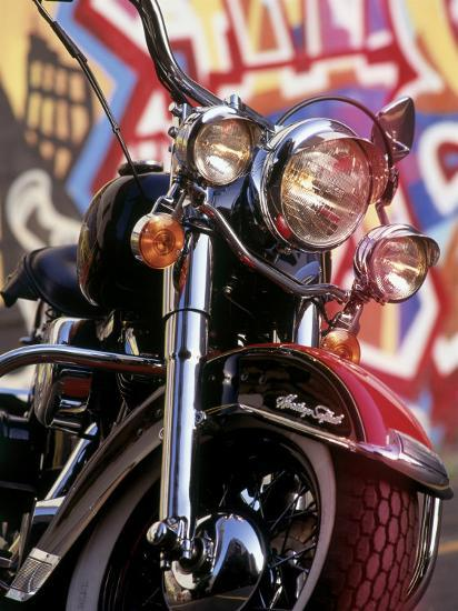 Harley Davidson Heritage Softail Made 1991 From A 1936 Style Photographic Print By