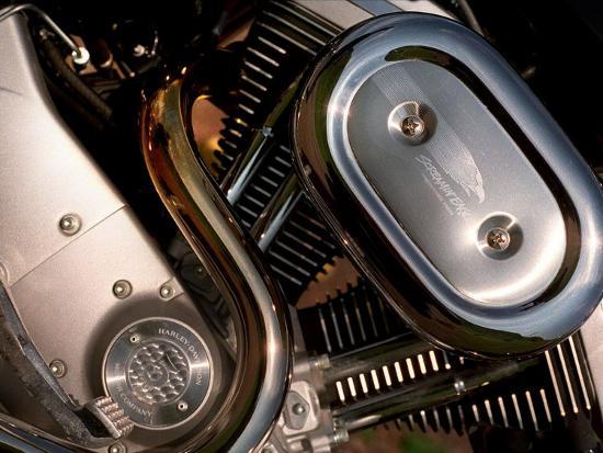Harley Davidson Motorbike, June 1998--Photographic Print