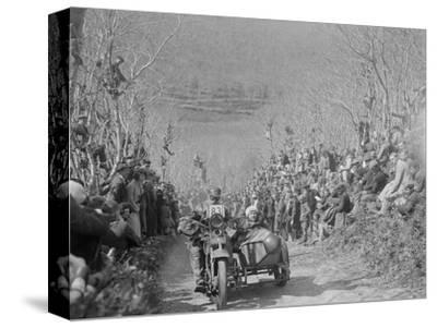 Harley-Davidson of RW Praill, MCC Lands End Trial, Hustyn Hill, Wadebridge, Cornwall, 1933-Bill Brunell-Stretched Canvas Print