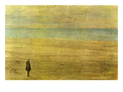 Harmony in Blue and Silver - Trouville-James Abbott McNeill Whistler-Art Print