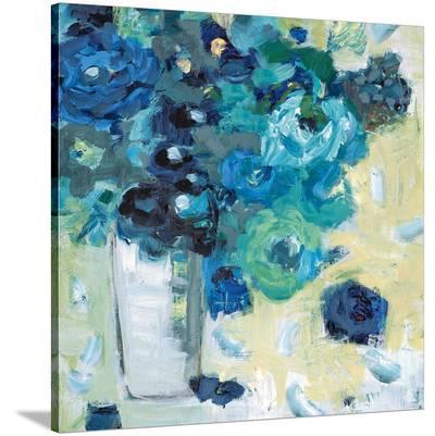 Harmony in Blue-Jennifer Harwood-Stretched Canvas Print