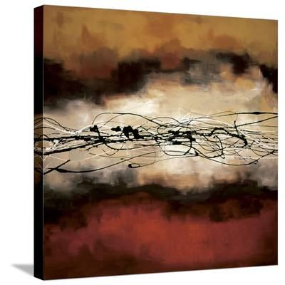 Harmony in Red and Ochre-Laurie Maitland-Stretched Canvas Print