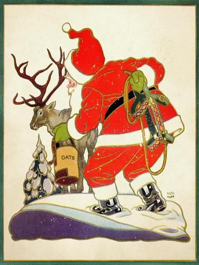 Harnessing the Reindeer - Child Life-Keith Ward-Giclee Print