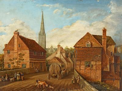 Harnham Bridge-John Gray-Giclee Print